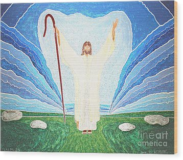 The Lord Is My Shepherd Eee011 Wood Print by Daniel Henning