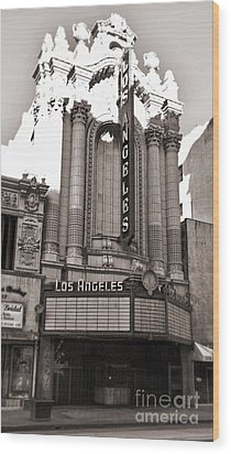 The Los Angeles Theatre - Black And White Wood Print by Gregory Dyer