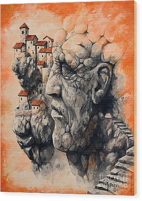 The Lost City - The Sentinel Wood Print by Emerico Imre Toth