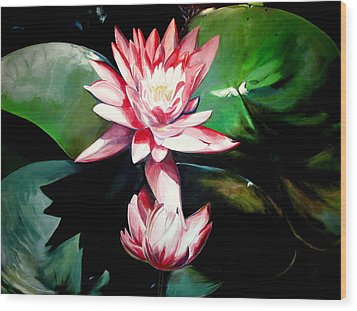 The Lotus Wood Print by John  Duplantis