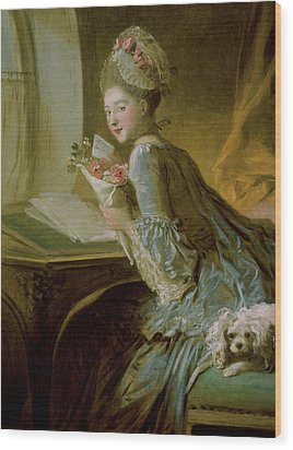 The Love Letter Wood Print by Jean Honore Fragonard