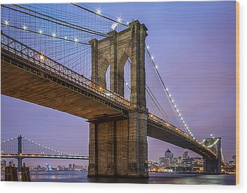 Wood Print featuring the photograph The Love Of Brooklyn  by Anthony Fields