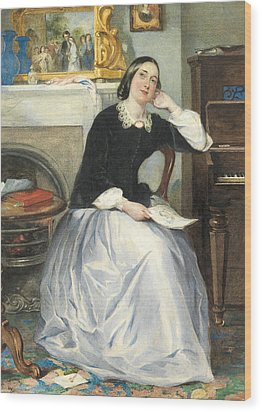 The Love Token Wood Print by Frederick Walker