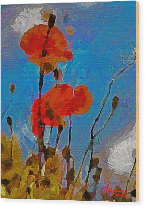 The Lovely Poppies Tnm Wood Print by Vincent DiNovici