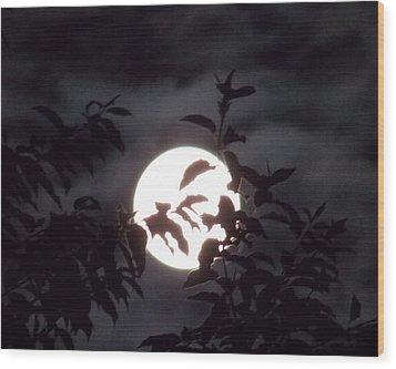 The Lovers Moon Wood Print