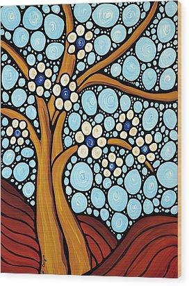 The Loving Tree Wood Print by Sharon Cummings