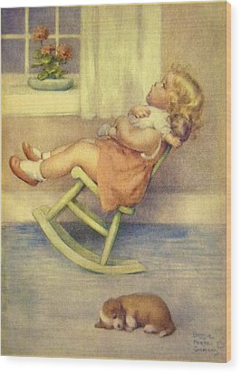 The Lullaby Wood Print by Bessie Pease Gutmann