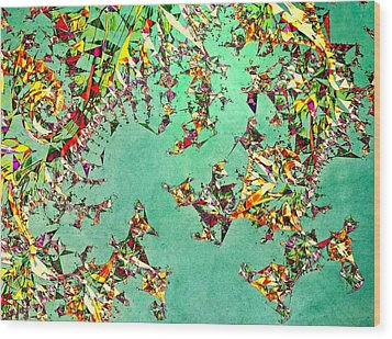 The Mad Hatter's Fractal Wood Print by Susan Maxwell Schmidt
