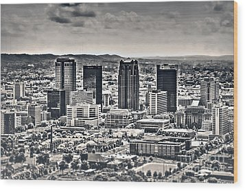 The Magic City Bw Wood Print