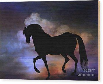 The Magic Horse..... Wood Print by Andrzej Szczerski