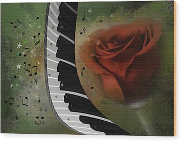 The Magic Of Love And Music Wood Print