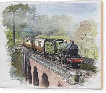 The Magic Of Steam Wood Print by Colin Parker