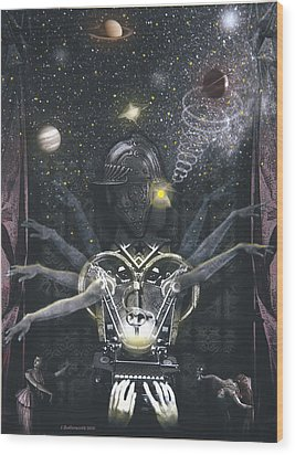 The Magician Wood Print by Larry Butterworth