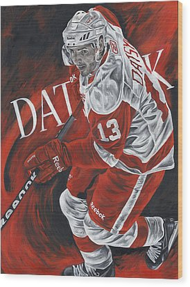 The Magician - Pavel Datsyuk Wood Print by David Courson