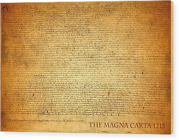 The Magna Carta 1215 Wood Print by Design Turnpike