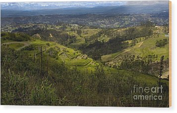 The Magnificent View From Cojitambo Wood Print by Al Bourassa