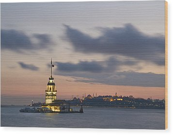The Maiden's Tower  Wood Print by Ayhan Altun