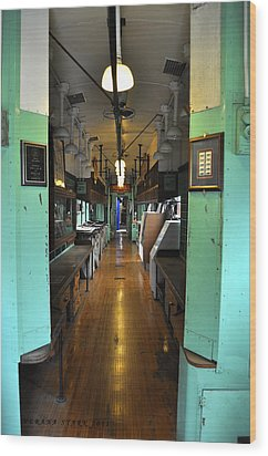 Wood Print featuring the photograph The Mail Car From The Series View Of An Old Railroad by Verana Stark