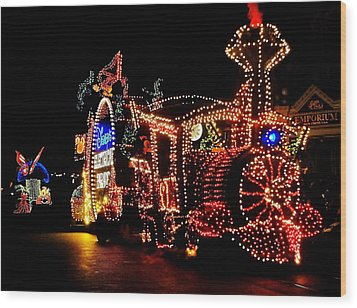 The Main Street Electrical Parade Wood Print by Benjamin Yeager