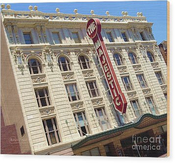 Wood Print featuring the photograph The Majestic Theater Dallas #1 by Robert ONeil