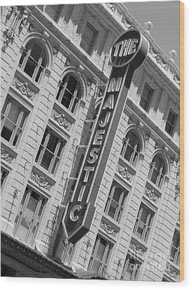 Wood Print featuring the photograph The Majestic Theater Dallas #3 by Robert ONeil