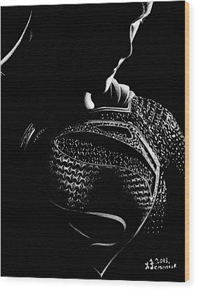 The Man Of Steel Wood Print by Kayleigh Semeniuk