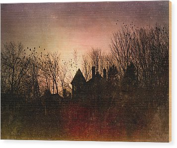 The Mansion Is Warm At The Top Of The Hill Wood Print by Bob Orsillo