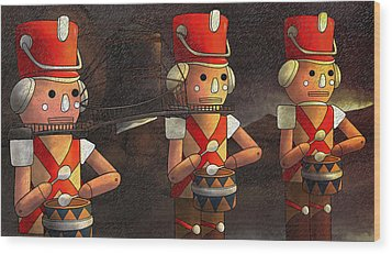 The March Of The Wooden Soldiers Wood Print by Reynold Jay