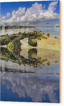The Marina At Boynton Inlet Wood Print by Debra and Dave Vanderlaan