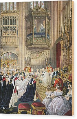 The Marriage At St Georges Chapel Wood Print by English School