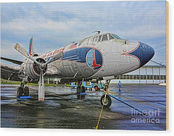 The Martin 404 - Eastern Airlines Wood Print by Lee Dos Santos