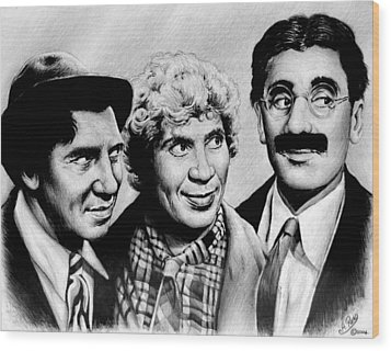 The Marx Brothers Wood Print by Andrew Read