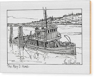 The Mary D. Hume Wood Print by Ira Shander