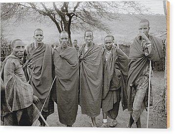 The Masai Wood Print by Shaun Higson
