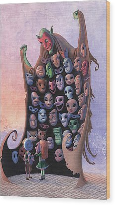 The Mask Vendor Wood Print