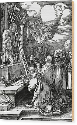 The Mass Of St. Gregory Wood Print by Albrecht Duerer