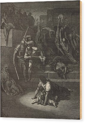 The Massacre Of The Innocents Wood Print by Antique Engravings