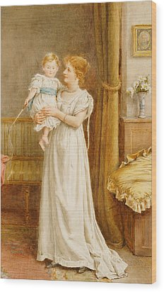 The Master Of The House Wood Print by George Goodwin Kilburne