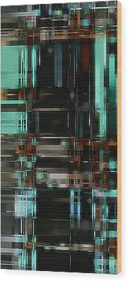 The Matrix 3 Wood Print by David Hansen