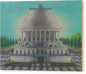 The Mausoleum Of Halicarnassus Wood Print