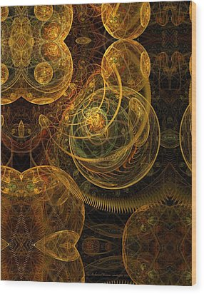 The Mechanical Universe Wood Print by Gayle Odsather