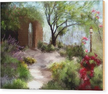 The Meditative Garden  Wood Print by Colleen Taylor