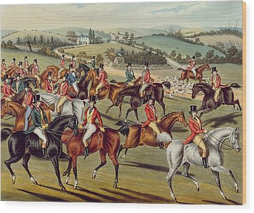 'the Meet' Plate I From 'fox Hunting' Wood Print by Charles Senior Hunt