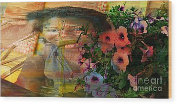 The Memory Of A Village Girl Wood Print by Fania Simon