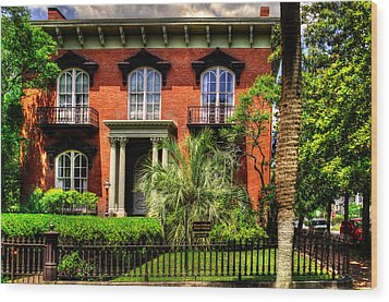 The Mercer Williams House Wood Print by Greg Mimbs