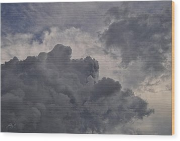 The Mighty Hand Of God Wood Print by Paulette B Wright