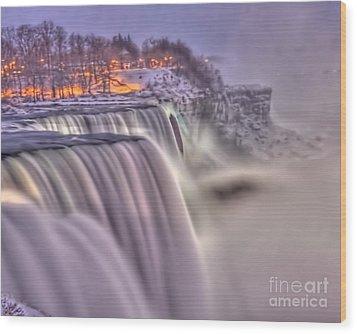The Mighty Niagara Wood Print by Jim Lepard
