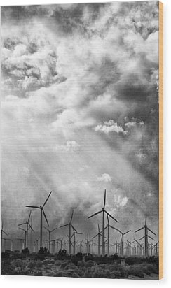 The Mighty Wind Palm Springs Wood Print by William Dey