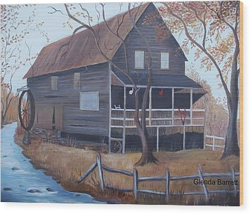 The Mill Wood Print by Glenda Barrett