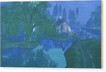 The Mill Stream Wood Print by Amanda Holmes Tzafrir